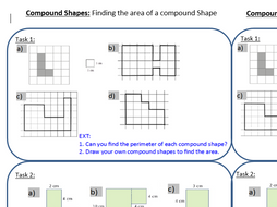 Area of compound shapes discovery