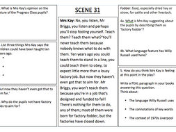 'Our Day Out' Scene 31 analysis worksheet