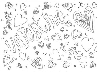 Valentine's Day Colouring Page (Special Days)