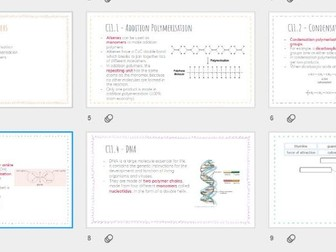 AQA GCSE Chemistry - Polymers revision powerpoint