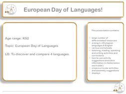 European Day of Languages for Primary  and Introduction to French, Spanish, Italian & German