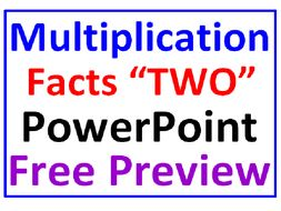Multiplication Facts PowerPoint Two FREE PREVIEW