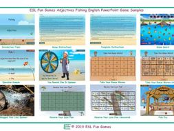 Adjectives Fishing Interactive English PowerPoint Game