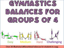 Gymnastics Group of 4 balances