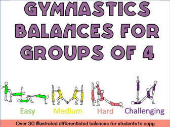 Gymnastics Group of 4 balances - Gymnastics sports acrobatics