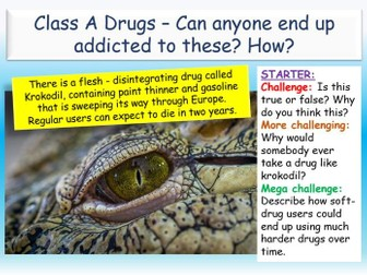 Class A Drugs + Addiction