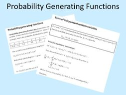 Probability Generating Functions Edexcel Further Statistics 1