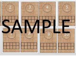 1-10 flash cards with ten frame