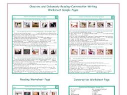 Cheaters and Dishonesty Reading-Conversation-Writing Worksheets