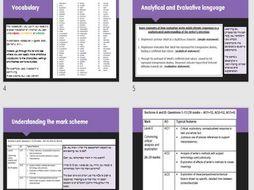 Grade 8 - 9 Literature GCSE AQA skills Masterclass