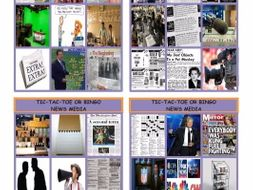 News Media Tic-Tac-Toe or Bingo