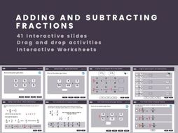 Adding and subtracting fractions and mixed numbers Year 6