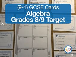 Algebra - New 9-1 GCSE Maths Grade 8/9 target UPDATED 2019