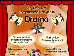 Application of Computational Thinking in Drama