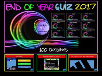 Bumper 100 Question End of Year Quiz 2017
