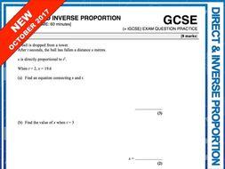 GCSE 9-1 Exam Question Practice (Direct + Inverse Proportion)