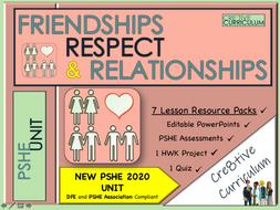 Friendships Respect Relationships PSHE Unit