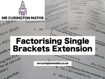 Factorising Single Brackets Extension