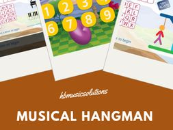 Musical Hangman 8 Letters Interactive Game