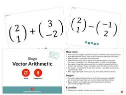 Vector Arithmetic (Bingo)