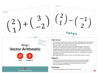 Vector Arithmetic (Bingo)