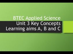 BTEC Applied Science Unit 3 - Key Skills