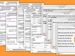 Grammar Year 4 Using Fronted Adverbials Autumn Block 3 Step 7 Lesson Pack