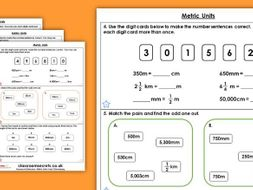 Year 5 Metric Units Summer Block 4 Maths Homework Extension