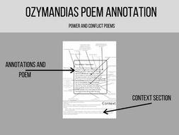 Ozymandias poem annotation