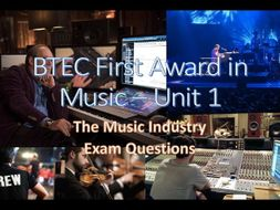 BTEC First Award in Music - Unit 1 Exam Questions
