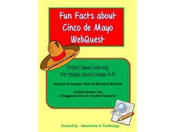 Fun Facts about Cinco de Mayo - Internet Scavenger Hunt / WebQuest