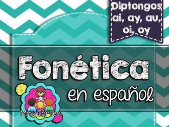 Spanish Phonics Book Set #16: Diptongos ai, ay, oi, oy