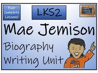 LKS2 Mae Jemison Biography Writing Activity