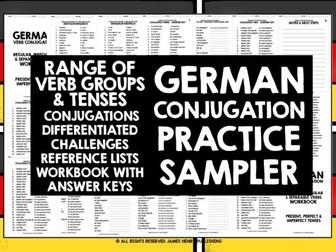 GERMAN CONJUGATION PRACTICE EXAMPLE