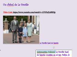 Spain's Royal Family Project (Spanish or English Class)