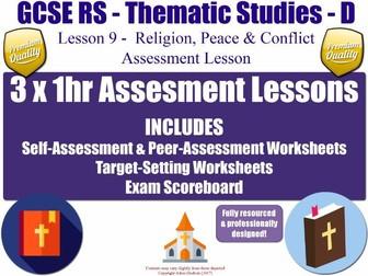 Religion, Peace & Conflict - Assessment Materials [AQA GCSE RS - L9/10] Theme D Practice Exam Papers