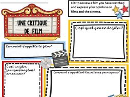 French Film Review Sheet and PowerPoint
