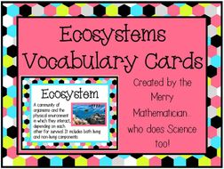 Ecosystems Word Wall Vocabulary Cards