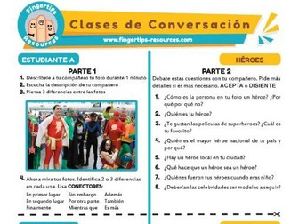 Héroes - Spanish Speaking Activity
