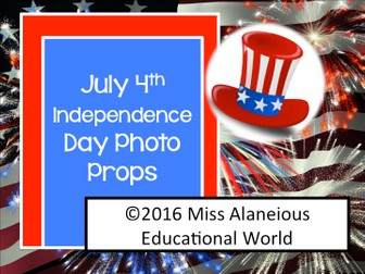July 4th Celebration Photo Props; Independence Day Photo Props