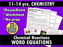 Chemical Reactions - writing chemical word equations by ...