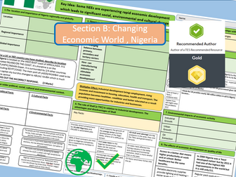 A3 Revision Sheet - AQA 9-1 The Changing Economic World, Nigeria Case Study.
