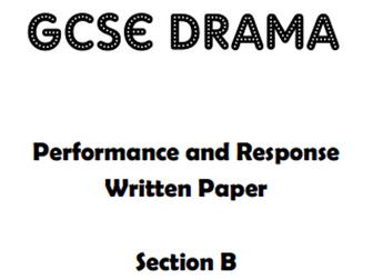 Live Theatre Evaluation - GCSE Drama Booklet
