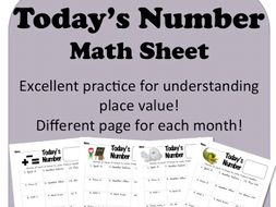 Today's Number Daily Math Sheet