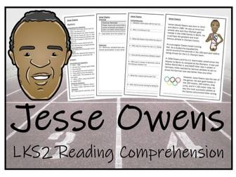 LKS2 History - Jesse Owens Reading Comprehension Activity