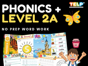 Phonics 2A - Introducing the sounds of the letters - S, A, T, I, P, N, C/K, E, H