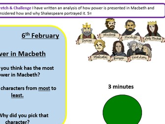 Analysing the theme of power in Macbeth