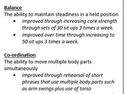 New Spec - GCSE Dance Revision Bookmarks - Skills