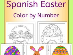 Spanish Easter Color by Number