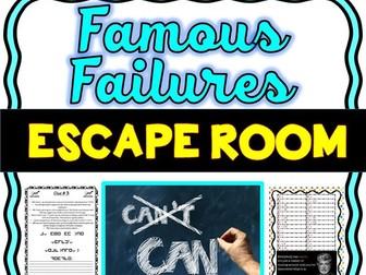 Famous Failures Escape Room